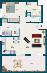 תכנית דירת רותם - אחוזת נווה חוף, דיור מוגן איכותי
