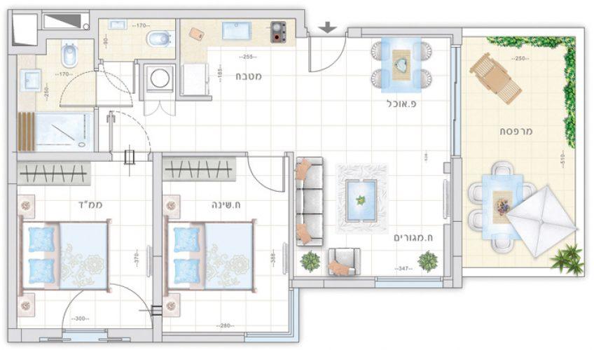 תכנית דירת יסמין - אחוזת נווה חוף, דיור מוגן איכותי