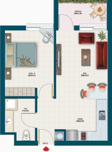 תכנית דירת כלנית