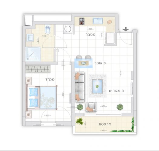 דיור מוגן | תכנית דירת לילך