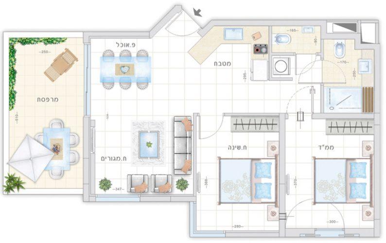 תכנית דירת סחלב - אחוזת נווה חוף, דיור מוגן איכותי